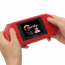 PXP3 Retro Portable Handheld Game Console built-in 110 Classic Games Slim StationCard Video Game Player for children kids