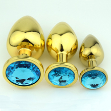 1Pcs Diamond Gold Stainless steel Crystal Metal Butt Anal Plug Anal Vibrator Adult Anal Sex Toys for Men Anal Sex Products
