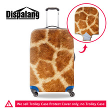 Animal Fur 3D Print Travel Luggage Covers Fashion Stretch Suitcase Trolley Case Protective Covers Apply For 18 to 30 Inch Cases