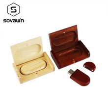 Sovawin Creative Wooden Usb 2.0 Flash Drive Pen Drive 64 gb 32 gb 16gb Pendrive Wood with Box Case Memory Stick Cool Gifts