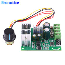 DC6-60V 30A PWM Motor Speed Controller Module Dimmer Current Regulator With Display