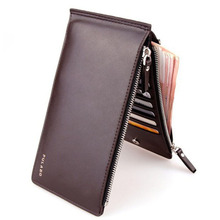Good Quality Men Long Faux Leather ID Credit Card Iphone Holder Clutch Bifold Cash Coin Purse Wallet,Casual Men wallet wholesale