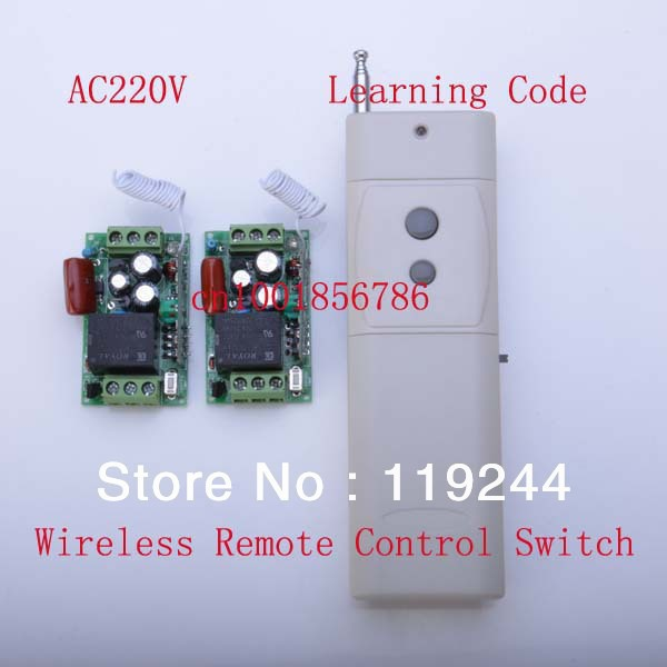 New 220V 10A RF Wireless Remote Control Switch System 2Receiver&amp;Transmitter 1CH Learning Code M4/T4/L4 output state is adjusted<br><br>Aliexpress