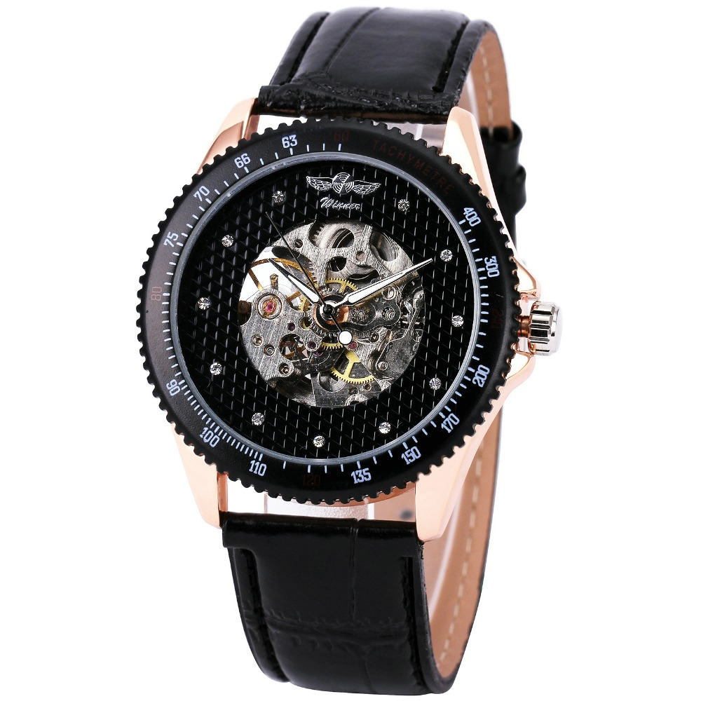 2017 Military Fashion Mens Watches Top Brand Luxury WINNER Sports Mechanical Wristwatches Round Skeleton Automatic Watches +BOX<br><br>Aliexpress
