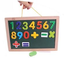 BOHS Child Hanging Double Sides Magnetic Mathematics Drawing Board Blackboard Whiteboard Hang to the Wall(China)
