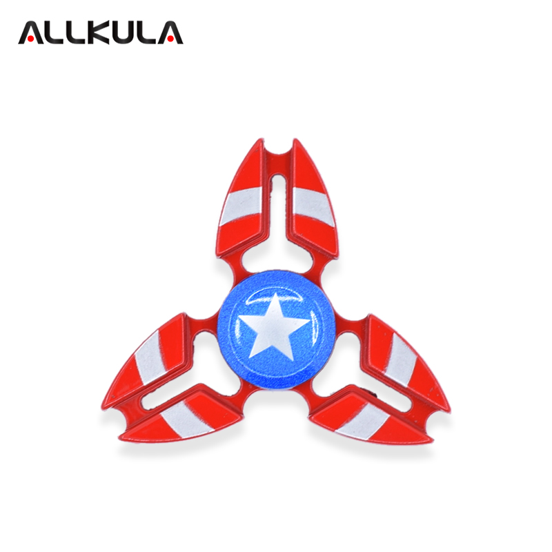 New 5 Colors Styles Captain America Spider Man Iron Man Hulk Batman Fidget Spinner Hand Spinner Autism ADHD