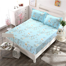 Pillowcase Fitted Bedsheet 3 Pieces Bedding Set Soft Fabric Home Decoration(China)