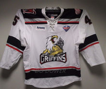 #45 C. Campbell Grand Rapids Griffins White Men's HOCKEY JERSEY Embroidery Stitched Customize any number and name Jerseys(China)
