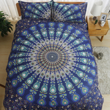 Bohemian Bedding Set Queen King Size Sheet Bedding Sets Printing Quilt Cover Set Bedclothes Pillowcase 3pc Cotton Bedlinen Cheap