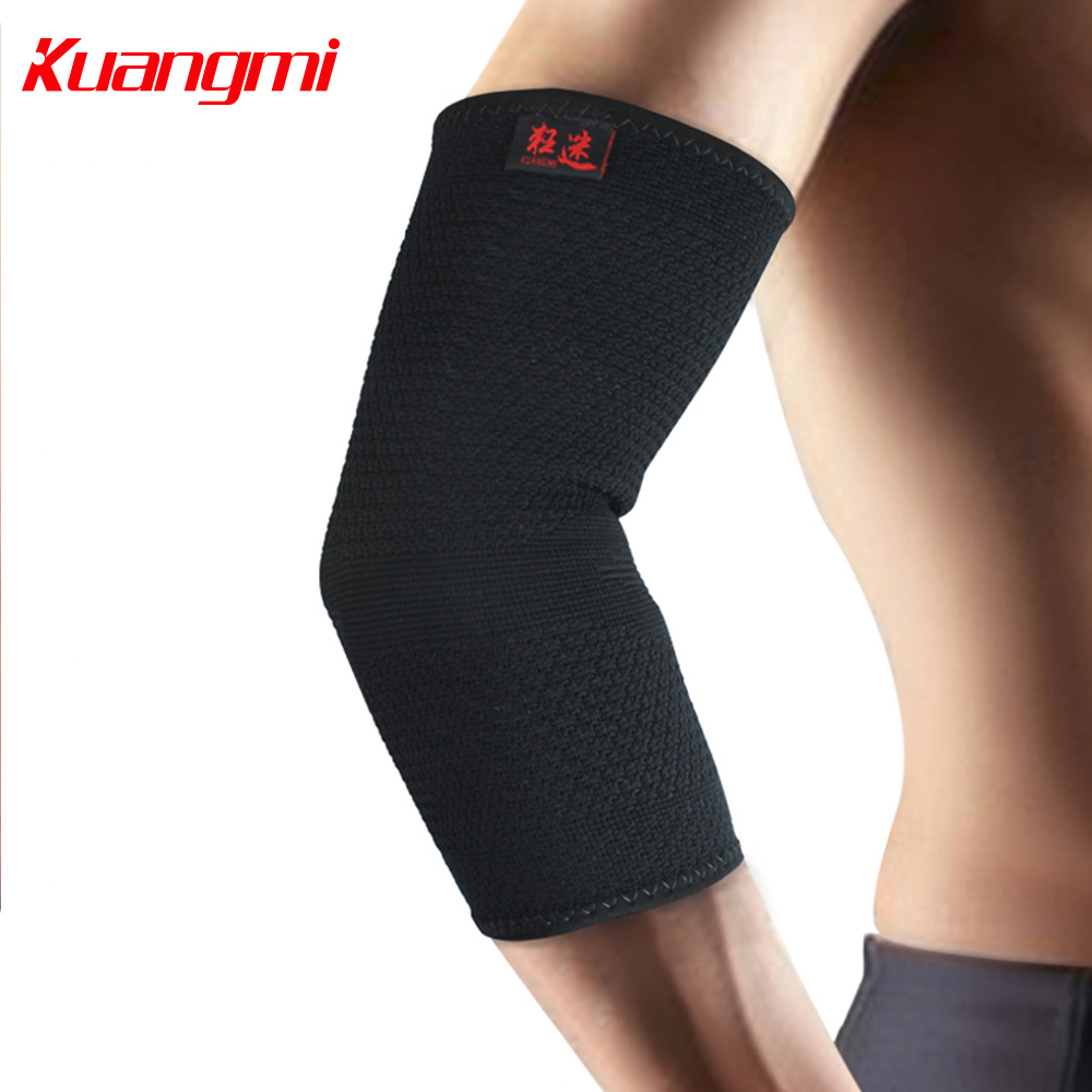 Kuangmi Elbow Support Basketball Tennis Sports Compression Sleeve Elbow Brace Arm Warmers Ski Volleyball Hockey Golf Protector(China)