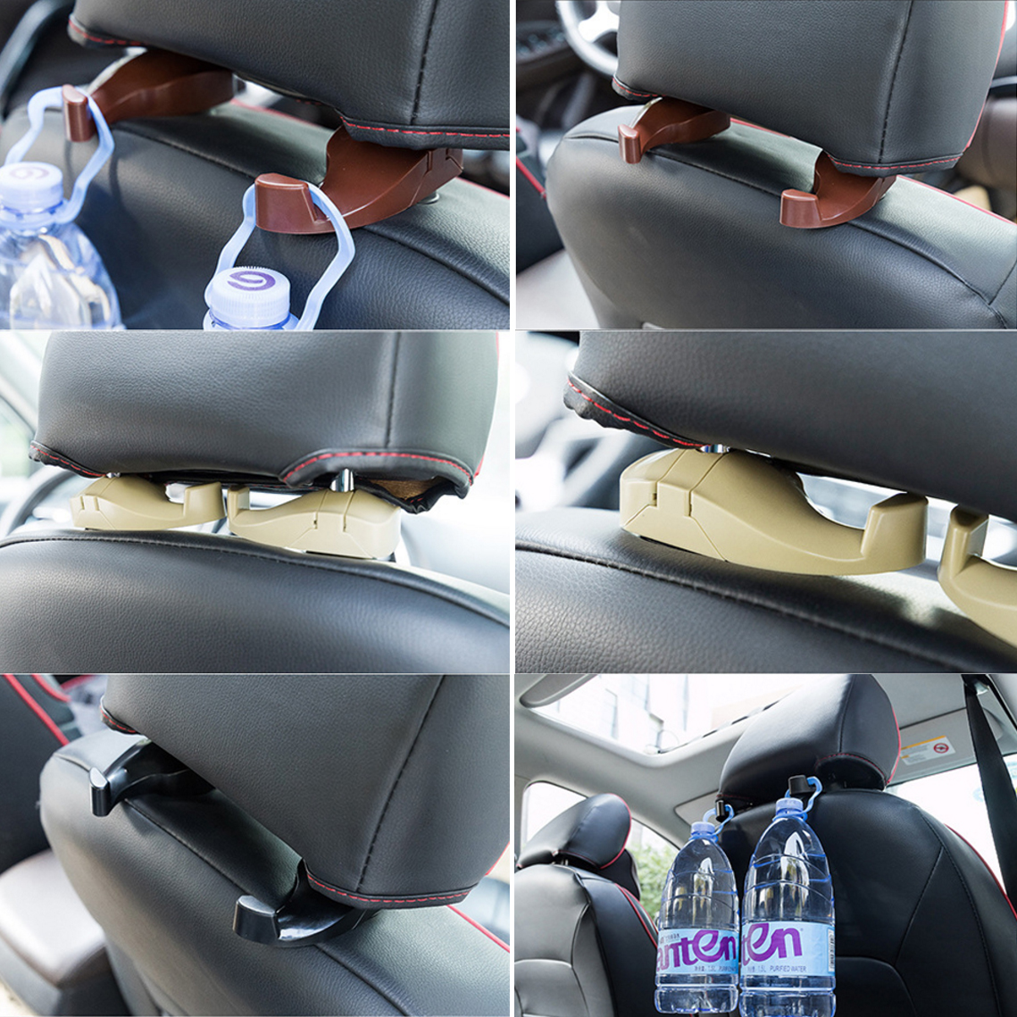 Easy to install car seat hook hanger holder bags purse
