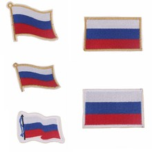 Russian Flag Patch Logo Iron On Cheap Embroidered Country Flag Badges Patches Backpack Flag Patches For Clothes Stickers Jeans