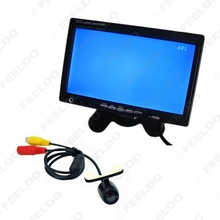 "DC12V 7"" Headrest Standalone TFT LCD Monitor With 16.5mm CCD Camera Car Rear View System #FD-3754"