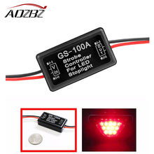 Aozbz Universal Strobe Controller Brake Light Flasher Module Flashing Back Rear Brake Light LED Flash Tail Stop Accessories