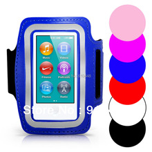 Free shipping Soft Belt Travel Gym Sports Running ArmBand Pouch Case for Apple iPod Nano 7 with Key Storage(China)