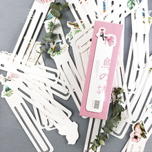 10 set/Lot Bird bookmark set Original book marks 30 Paper clip scrapbooking Office material School supplies marcador livro F676