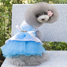 Pet Dog Dress Summer Cat Clothes Pet Clothes Supplies Wedding Party Dress