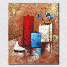 Wholesale and retail quality canvas prints abstract art painting flowers as fine still life for room decor free shipping