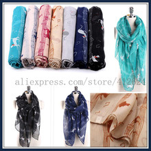 SALY&BABY MUSIC Notes Women Lovely Cat scarf Silky classic High quality SCARVES shawl Long scarf ,Size 180*90cm