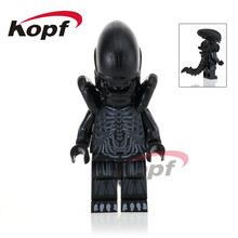 Single Sale Super Heroes Halloween Cyclops Omino Snake Undead Zombie One-Eyed Alien Building Blocks Toys for children PG1050(China)