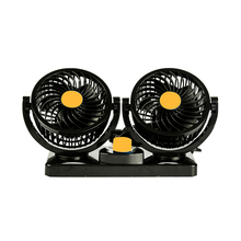 Car Mini Dual Air Fans 360 Vent Adjustable Vehicle Rotation Cooling Cooler Low Noise Summer Auto Ornaments Interior Accessories(China)