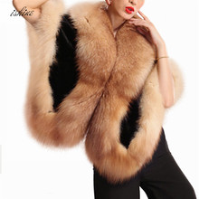 2017 Fashin Girls's Faux Mink Fur Poncho Coat With Hood Black Soft Elegant luxury Faux Fur Poncho Fake Mink