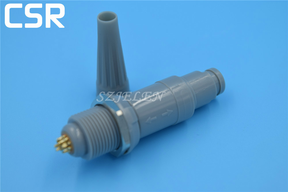 LEMO connector 14 pin, PAG/PLG, Medical probe connector plugs and sockets, gray jacket, 14-pin male and female connectors<br><br>Aliexpress