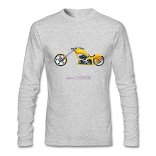 Positive Yellow heavy motorbike Man's Tee Shirts  Men 100% Cotton Full-Sleeves Tee Shirts shopping t shirts online