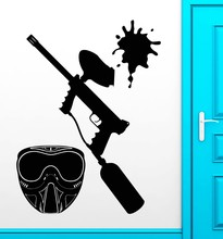 Loves paintball recreation room teens vinyl stickers wall stickers deco art mural wall(China)