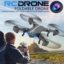 XS809HW Selfie Drone Foldable RC Quadcopter WiFi FPV Mini Elfie Drones With Camera Dron RC Helicopter VS Visuo XS809HW E56 X5SW(China)