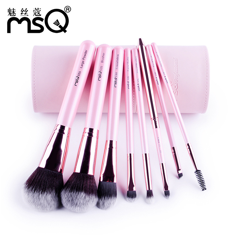 MSQ Pro 8Pcs Makeup Brushes Set Comestic Powder Foundation Blush Eyeshadow Eyeliner Lip Beauty Make up Brush Tools Maquiagem<br>