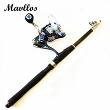 Mavllos Cost-effective Spinning Fishing Rod Reel Carbon 1.8m Ultra Light MH Match 2000-5000 Series Fishing Reel Fishing Combo
