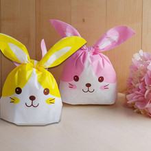 10pcs/lot Cute Rabbit Ear Cookie Bags lovely cat Gift Bags For Candy Biscuits Snack Baking Package Event Party Supplies