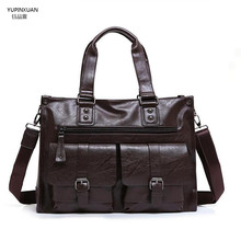 YUPINXUAN Black Leather Messenger Bag Crossbody Shoulder Bag Leather Travel Bags Briefcases Brown Leather Handbags Hombre Bolso
