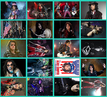 Handmade new Rock band Alice Cooper Classic Series sticker 20/pcs PVC Art Crafts collection Gift wall Design sticker(China)