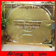 Gold Bio-Collagen Facial Mask Face Mask Crystal Gold Powder Collagen Facial Mask Moisturizing Anti-aging(China)