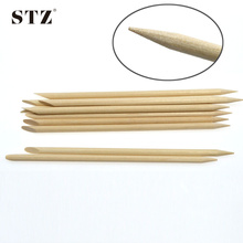 STZ 20pcs 11.5cm Retail Nail 2 Ways Designs Salon Nail Care Cuticle Pusher Remover Nail Art Wood Stick Accessory CH02(China)