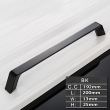 Wardrobe Door Handle Drawer Shoe Cabinet Black Handle Modern New Cabinet, Kitchen Door Lengthened Knobs(China)