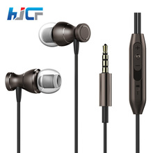 New Brand HJCF Metal Magnetic Sport Running Earphone In-Ear Earbuds With Mic For Mobile Phone MP3 MP4 Player PC Computer(China)
