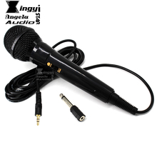 Wired Condenser Microphone 3.5mm to 6.5mm Plug Karaoke System Mic Mike For Computer Sing Record Video Mixer Microfone Microfono(China)