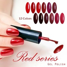 Candy Lover Wine Red Series Red Color Collection Gel Nail Polish UV LED Gel 1 Piece Capacity 8ml Each 12 Color For Choose