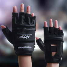 Kids Adult Half Finger Fight Boxing Boxeo MMA Muay Thai Kick Training crossfit Gloves Mitts Sanda Karate TKD Protector(China)