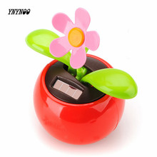 YNYNOO New Arrival Hot Selling Moving Dancing Solar Power Flower Flowerpot Swing Solar Car Toy Gift Home Decorating Plants