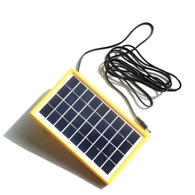 HOT 3W 9V Mini Solar Cell Polycrystalline Solar Panel DIY Panel Solar Power Battery Charger+DC 5521 Cable 3M  Free Shipping