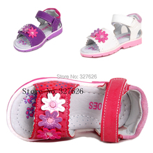 On sale 1pair Brand Kids Leather Sandals Girl Soft Shoes,Super quality Children Outdoor Orthopedic Shoes(China)