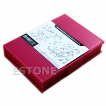 "Anti-Shock Protection Storage Box Case for 3.5""SATA IDE Hard Disk Drive HDD RED -R179 Drop Shipping"