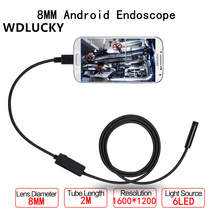 USB Endoscope Android Mobile Endoscope  8MM 2MP 1/2/3/5M Snake Camera Waterproof Inspection Borescope for Laptop With OTG/UVC