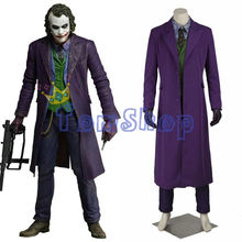 Batman Dark Knight Rise Joker Cosplay Suit Outfits Full Set Men's Halloween Costumes Custom Made