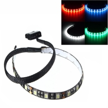 30cm 4 Pin 5050 SMD 18 LED Light Neon Adhensive Strip Waterproof And Dustproof Computer Case Flexible Strip Lamp DC12V