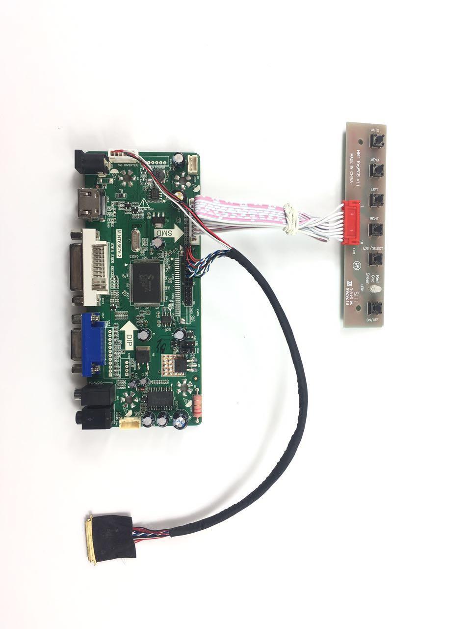 Free Shipping NT68676 VGA DVI HDMI LCD Controller Board DIY Kit for B156XW02 V0 V3 V5 V7 15.6 inch 1366x768 LVDS LCD panel<br>